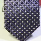 Галстук мужской фиолетового цвета с рябью черного и белого цвета