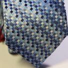 Галстук мужской синего цвета в клетку