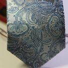 Галстук мужской стильный серого цвета с рисунком