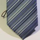 Галстук мужской синего цвета в косую линию