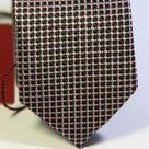 Галстук мужской черного цвета с сиреневой рябью