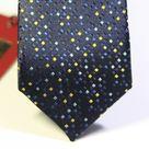 Галстук мужской темно-синего цвета с точечным рисунком