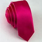 Узкий темно-розовый галстук