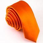 Узкий оранжевый галстук