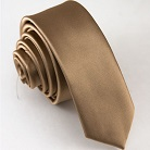 Узкий светло-коричневый галстук