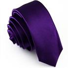 Узкий галстук фиолетового цвета