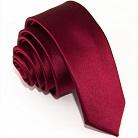 Узкий бордовый галстук