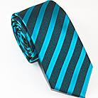 Стильный голубой галстук в полоску